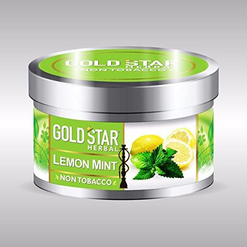 GOLDSTAR Herbal Non Tobacco Smoke Lemon Mint Flavor Premium Hookah 200 gm