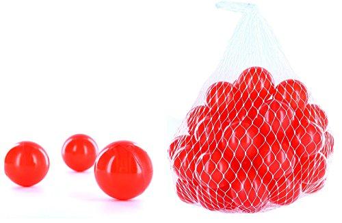 3000 Bälle für ein Bällebad in der Farbe Rot für Kinder, Babys oder auch Tiere