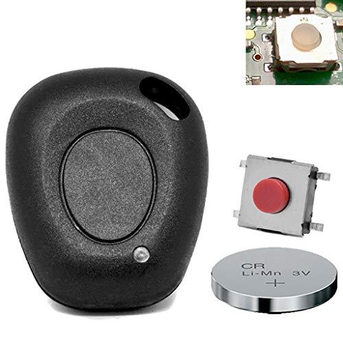 Autosleutel afstandsbediening reparatieset 1 toetsen behuizing + microknop + batterij voor Megane Scenic Laguna Twingo