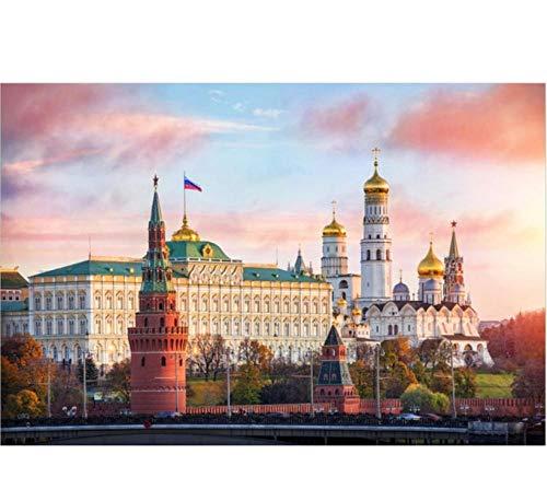 ldwyz Russia Mosca Albe 1000 / Puzzle per Bambini Adulti Paesaggio educativo del Regalo del Giocattolo dello Sviluppo