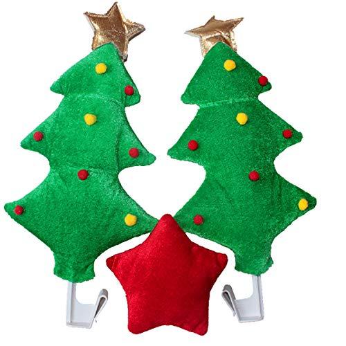 Ztong 2 Sets of Car Reindeer Antler Nose Ornaments Elk Reindeer Car Christmas Holiday Clothing Accessories for Car Trucks 2 Antlers and 1 Reindeer Nose