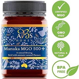 AB's Honey Certified MGO 500+ Manuka Honey ( UMF 15+ ), Non-GMO, 100% Raw, 100% Pure, 100% Natural from Australia 250 gram ( 8.8 ounce )