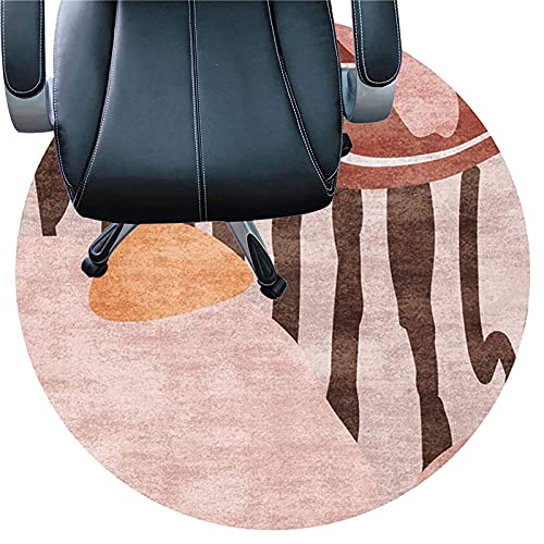 LLKK Alfombrilla para silla de escritorio para piso de madera dura, lavable, 6 mm de grosor, antideslizante, alfombra silenciosa, fácil de limpiar (tamaño: 80 cm, color: C)