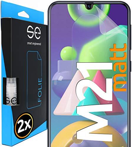 [2 Stück] Entspiegelte 3D Schutzfolien kompatibel mit Samsung Galaxy M21, hüllenfreundliche matte Displayschutz-Folie, Schutz vor Schmutz und Kratzern, kein Schutzglas - smart engineered