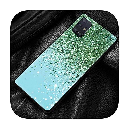 Funda para Samsung Galaxy A21S A51 A71 A70 A50 A31 A12 A02S suave a prueba de golpes Coque Sparkle Glitter-B09-para Samsung A21