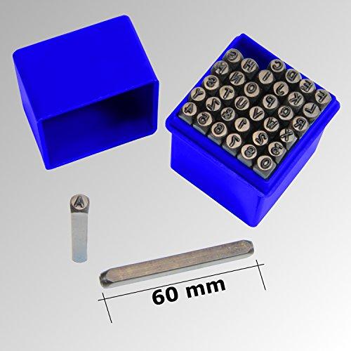 36 tlg. Schlagbuchstaben Schlagzahlen SET 4mm Schlagstempel