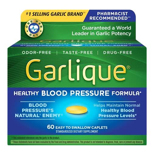 Garlique Healthy Blood Pressure Formula 60 ct (Pack of 1)