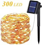 OxyLED Catene Luminosa Solare Esterno,30M 300 LED Luci Solari Esterno Catena Luminosa con ...