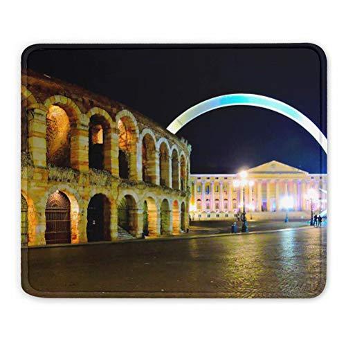 Italia Arena de Verona Alfombrilla de ratón Regalo de Recuerdo 7,9 x 9,5 pulg. Almohadilla de Goma de 3 mm