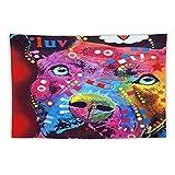 Manta Tapiz Para Colgar En Pared,Lámina artística Retrato de perro Pet Pit Bull Pitbull Canine, Estera Picnic Decoración Sala Estar,60x90'