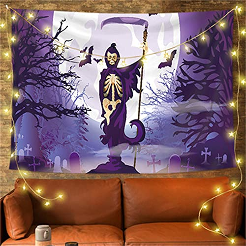 YYRAIN Halloween Wandteppich Polyester Antifouling Wandbehang Bankett Wanddekoration Hängetuch Wohnzimmer Schlafzimmer Hängebild 39x28 Inch{W100xH70cm}