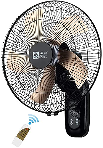 Ventilador de pared que enfría el ventilador de pared de 16 pulgadas, adecuado para ventiladores industriales, comerciales, residenciales y de tiendas industriales-3 velocidades, 5 cuchillas de ventil