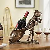 MKJYDM Rana vinoteca Personalidad Adorno Europeo 28 X 13 X 22 cm estantería de Vino
