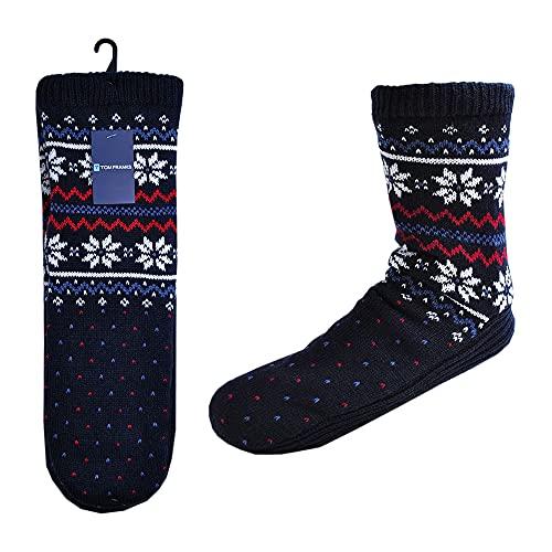-RJM Herren Socken Blau Mens Regulär