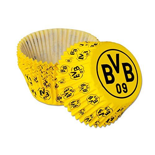 Borussia Dortmund Unisex Bvb-muffinförmchen (40 Stück), gelb, Einheitsgröße