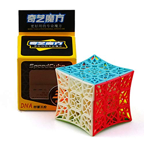 CuberSpeed QiYi DNA Cube concave 3x3 Stickerless Speed Cube Puzzle DNA concave 3x3x3 Stickerless Cube