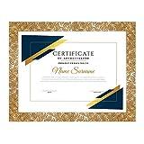 Lupia Cornice per attestati, pergamene, diplomi Rosy Oro