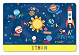 I See Me! Kids Placemat Personalized with Child's Name, Custom Dining Placemat, Unique Gift for Boys and Girls, Outer Space Table Mat