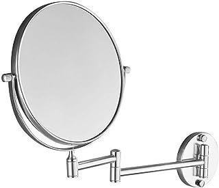 مرآة حمام دوارة تلسكوبي قابلة للطي تثبت على الحائط على الوجهين مرايا على الطاولة