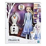Frozen 2 - Elsa  e Olaf elettronici (Elsa telecomanda Olaf per farlo parlare e ballare, parla in italiano, ispirato al film Disney Frozen 2)
