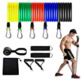 Resistance Bands Set,Workout Bands,Exercise Bands,5 Tube Fitness Bands with Door Anchor,Handles,Portable Bag,Legs Ankle Straps for Musle Training, Physical Therapy, Shape Body,Home Workouts