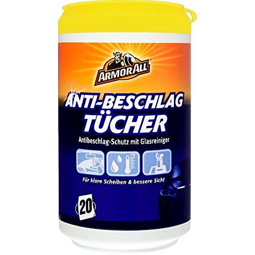 ARMOR ALL Anti-Beschlag-Tücher 20 Stk. GAA15020GE, alkoholfrei + ammoniakfrei, 15020L
