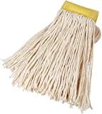 AmazonBasics Cut-End Cotton Commercial String Mop Head, 5 Inch Headband, Large,...