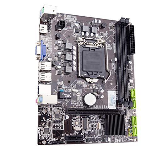 LBWNB Tarjeta Madre Escritorio Placa Base LGA 1156 con LGA1156 Intel Core I5 760 2.8 GHz CPU 4 GB X 2 = 8 GB 1333MHZ DDR3 Memoria RAM Placa Base Placa Base para Juegos