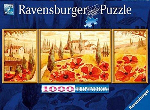 Ravensburger 19994 - Mohnblüte in der Toskana - 1000 Teile Triptychon-Puzzle