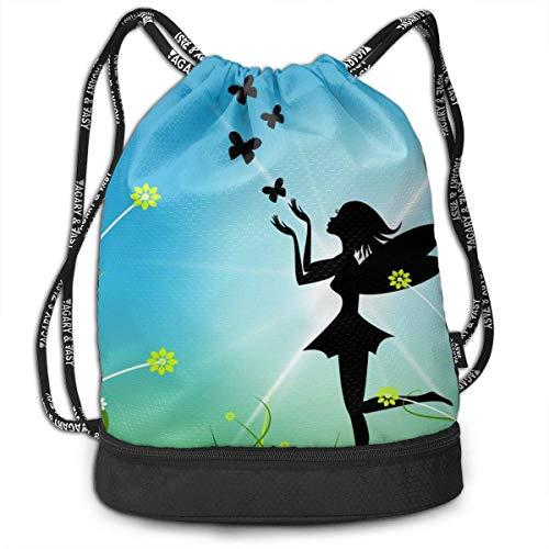 Ligero multifunción Fairy Sun que representa el ramo mágico Paquete de moda de verano Mochila Bolsos de hombro Bolso con cordón al aire libre