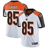 alaxdsd Bèn-gǎls Sudadera de Manga Corta de Jersey NFL para Hombre Camiseta Transpirable Ropa para fanáticos Camiseta Tyler Eifert#85 Exterior/White/S