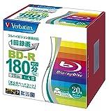 Verbatim Mitsubishi 25GB 4x Velocidad BD-R BLU-Ray Disco grabable 20Pack–Chorro de Tinta imprimible–Cada Disco en una Caja de CD