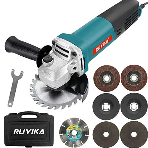 RUYIKA Electric Angle Grinder, 1000W 125mm Grinder Power Tool with 7...