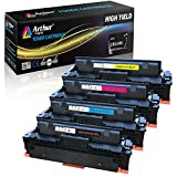 Arthur Imaging Compatible Toner Cartridge Replacement for Canon 046 046H for Color ImageCLASS MF735Cdw LBP654Cdw MF731Cdw MF733Cdw Laser Printer (Black Cyan Magenta Yellow, 4-pk)