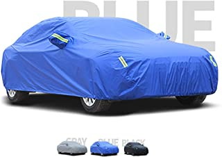 Guoguocy Car Cover, Double-Sided Use Car Cover, Compatible with SEAT Alhambra, Can Adapt to All Kinds of Weather (Color : C, Size : 2013 1.8TSI)