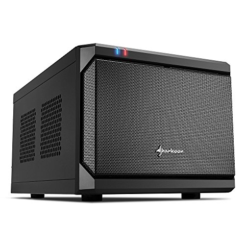 Sharkoon qb one - caja de ordenador, pc gaming, mini-itx, negro.