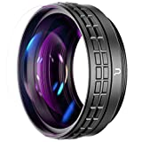 【18mm Wide-angle Lens】- The WL-1 ZV1 additional lens can change the Sony ZV1 24mm lens into 18mm Wide-angle Lens. NOTE:The wide angle lens can not used individually. It must be used with the macro lens together. 【10X Macro Lens】- The macro lens can c...