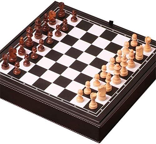 Yuzhonghua Tablero de ajedrez, Juegos de ajedrez magnético de Viaje, ajedrez Triple, Plegado Juguetes Rompecabezas de ajedrez portátil for niños (Color, Size : 32 * 32 * 5cm)