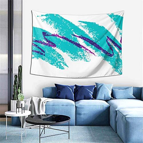 Tapiz para colgar en la pared, diseño de ondas del océano, decoración estética para pared, decoración del hogar, dormitorio, sala de estar, 156 x 100 cm