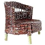 1/3 scale Doll Couch. Dollhouse Wicker Cushion. Handmade American Girl, BJD SD Super Dollfie Dream Seat