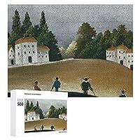 INOV アンリ・ルソー著漁師そして複葉機 ジグソーパズル 木製パズル 500ピース キッズ 学習 認知 玩具 大人 ブレインティー 知育 puzzle (38 x 52 cm)