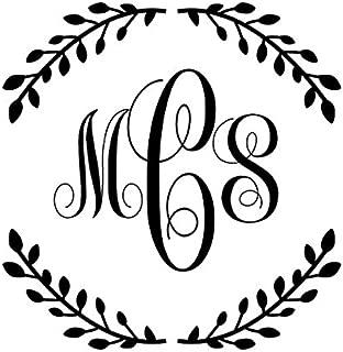 Designer Wedding Monogram Round Pink Shiny EZ-Seal - Hand Held Custom wedding Embosser, Monogram Embosser
