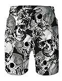 Freshhoodies Skull Swim Trunks for Mens Funny Cool Novelty Big...