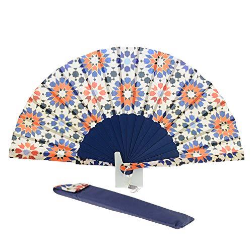 Abanico Estampado Batik Artesanal Talla: U Color: MARINO