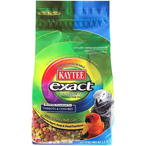 Kaytee Exact Rainbow - Complete Parrot Food - 2.5lb, Pack of