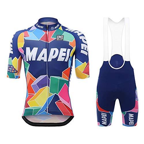N/A Bodies de Ciclismo para Hombre~Ciclismo Conjunto Mangas Cortas Jersey+9D Acolchado De Gel Ciclismo Culote,Transpirable/Secado rápido,para MTB/Spinning/Bicicleta,M