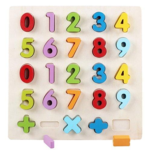 La Vogue Jouets d'éveil Puzzle Bébé et Enfant Jeu Educatif et Scientifique Puzzle Chiffre 31*30*2.5cm
