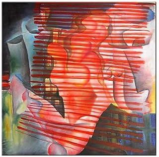 """Pintura Lienzo al Óleo Arte Abstracto Moderno """"PASIÓN Y DESEO"""" por DOBOS, Cuadro Original para Decoración del Hogar"""