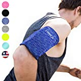 Phone Armband Sleeve Arm Band: Best Running Blue Sports Strap Holder Pouch Case