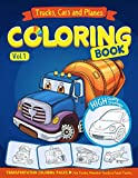 Trucks, Planes and Cars Coloring Book: Cars coloring book for kids & toddlers - activity books for preschooler - coloring book for Boys, Girls, Fun, ... book for kids ages 2-4 4-8) (Volume 1)